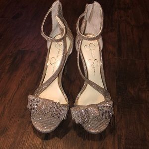 Sparkling Jessica Simpson shoes not worn.